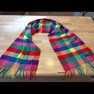 "Scarf Cashmere 100%, Scotland colorful 13 x72"""